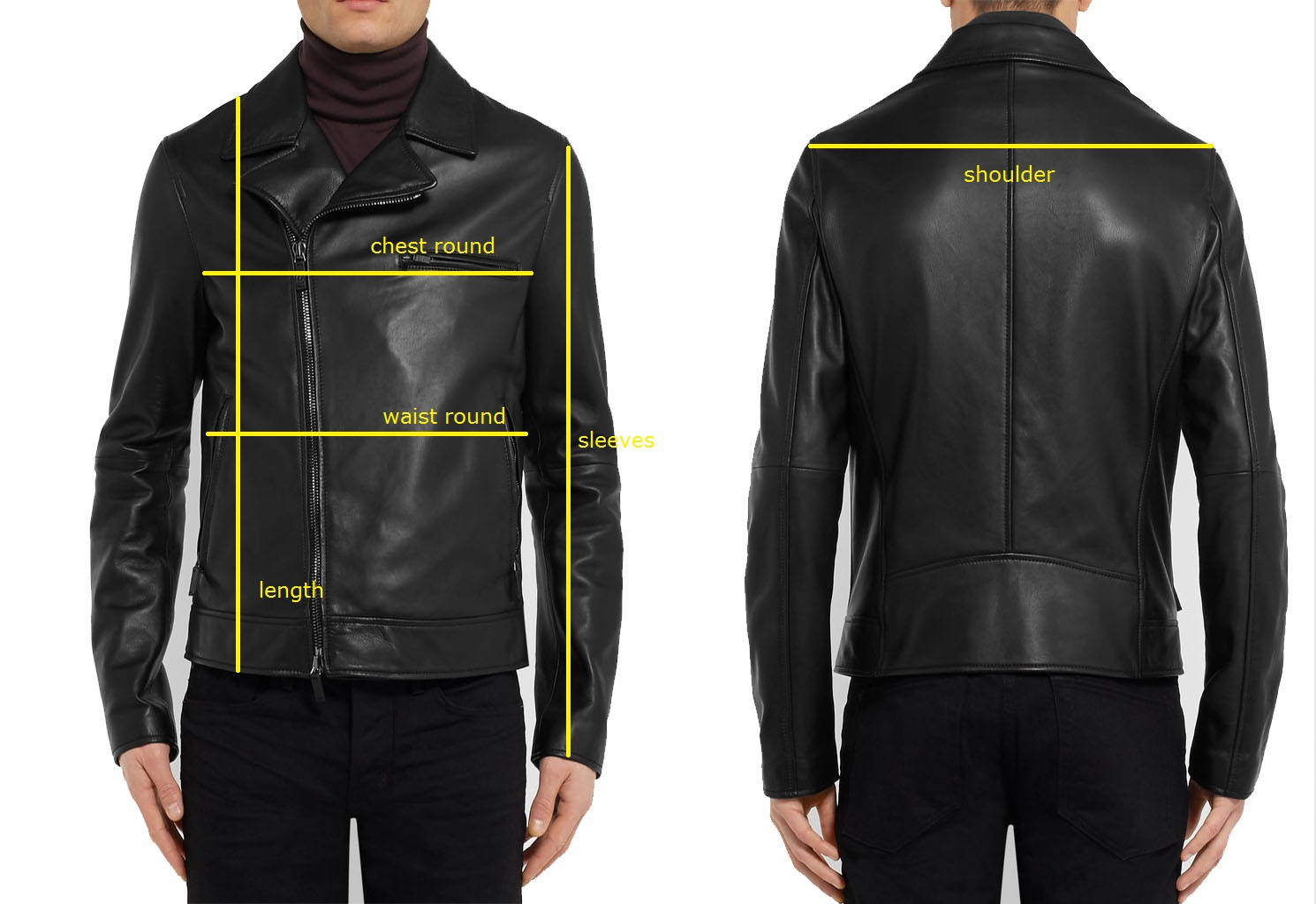 Leather Jacket Men Size Guide